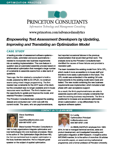 Princeton Consultants Case Study: Empowering Test Assessment